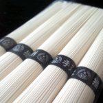 播州素麺「鶴の糸」(販売:JAハリマ)は小気味いい歯切れで小麦の風味もしっかりある、なんとなく揖保乃糸に似ていると思わせる素麺でした
