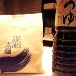 「越中利賀村 清流素麺」(富山県西部森林組合)はコシが強くてツルンとしたおいしい素麺。古物(ひねもの)だったので香ばしさも際立っていました