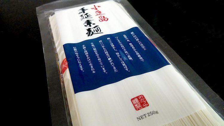 ムニッとした弾力のおか乃や製麺の小豆島手延素麺